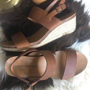 ✈️ Lucky Brand Wedge Sandals 🍀